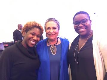 Kyra Azore, NABJ Student Representative; Cathy Hughes; Katherine Gilyard, NPPA Student Representative