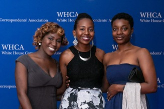 Kyra Azore, Maya King, Alexa Imani Spencer, Howard University WHCA Scholars