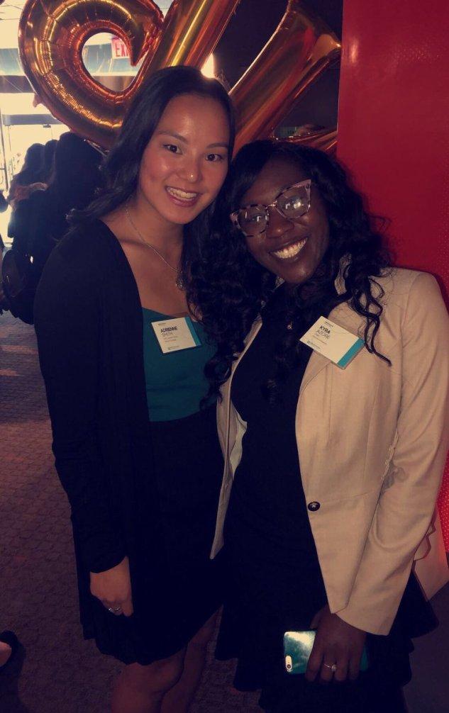 Kyra Azore and NBC Sports Intern Adrienne Smith