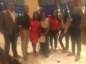 Group of students and NABJ Student Rep
