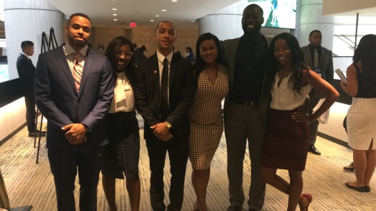 NABJ Student Rep and a group of recent graduates