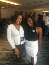 MSUABJ President Tatianna Hemphill and NABJ Student Rep