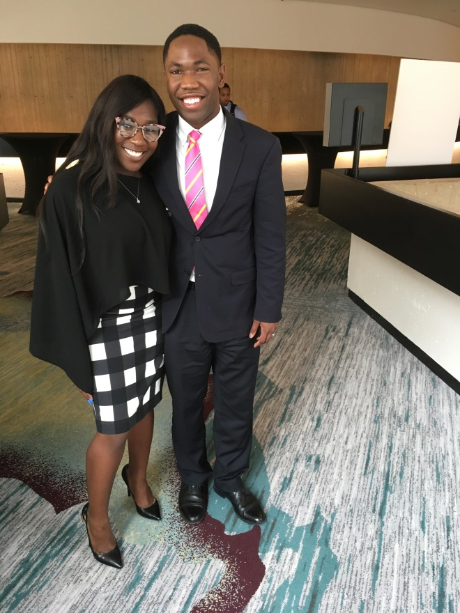 NABJ Student Rep and Doni Holloway, NABJ's 2018 Student Journalist of the Year