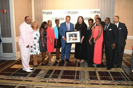2017-2018 NABJ Board of Directors and Rev. Jesse L. Jackson Sr.