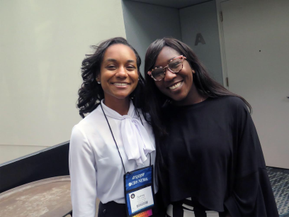 HUABJ President Sydney Williams and NABJ Student Rep Kyra E. Azore
