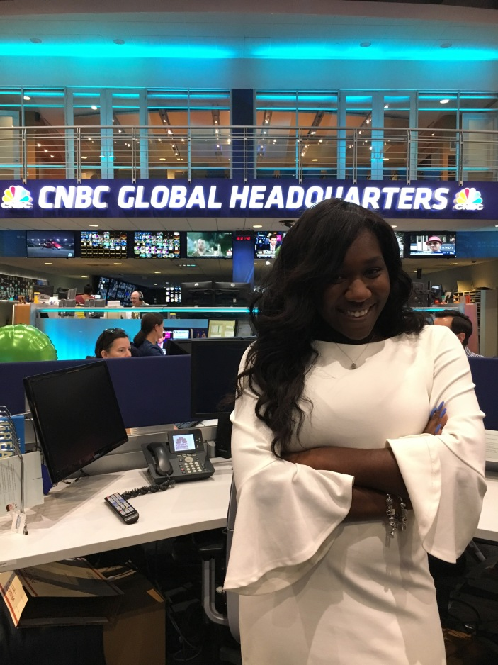 Kyra Azore in the CNBC Newsroom