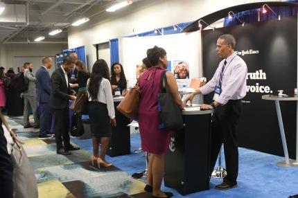 NABJ Student Rep at the Career Fair