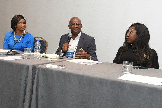 NABJ Student Rep on the Training Day Panel