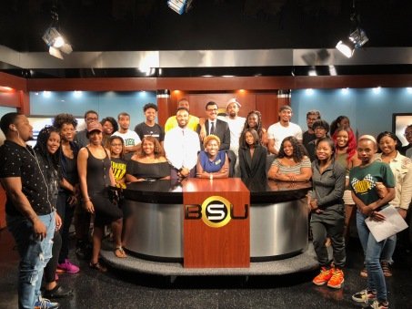 Kyra and the new NABJ Student Chapter at Bowie State University
